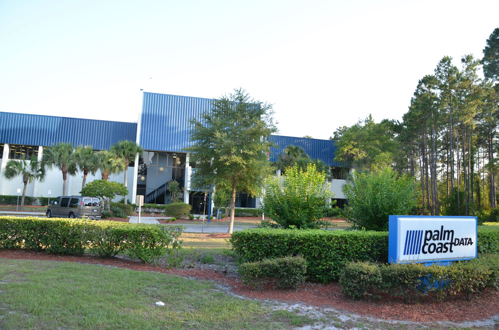 Palm Coast Data, one of the city's largest employers, is battling eviction through a bitter dispute with its former owners. (© FlaglerLive)