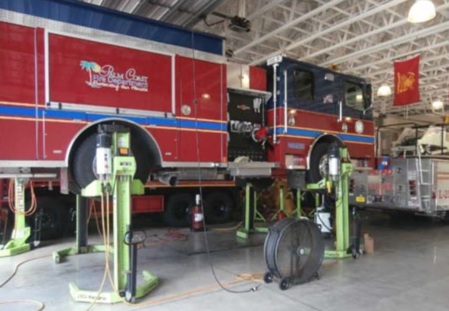 palm coast fire trucks maintenance