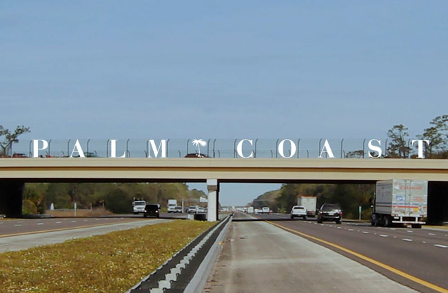 palm coast i-95 sign
