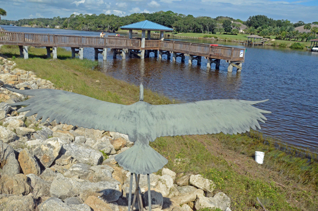 Waterfront Park, the most popular of Palm Coast's parks, was developed at a cost of $13,000 per acre. (© FlaglerLive)