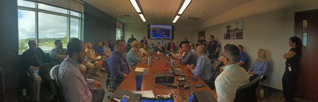 Full-scale planning launched this morning in the Palm Coast administration, with all departments mobilized. (Palm Coast)