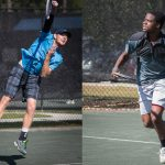 Connor Smith, left, and Francis Tiafoe playing in a previous Palm Coast Futures tournament. (Palm Coast)