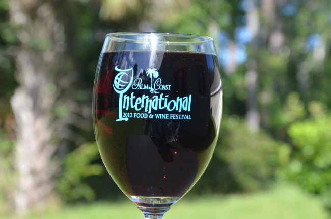 The Food and Wine Festival's glass is finally full. (© FlaglerLive)