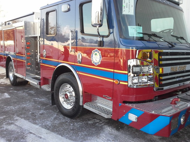 The new fire truck, as captured by Fire Chief Mike Beadle.
