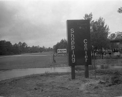 Going down two-lane road. Click on the image for larger view. (Flagler County Historical Society)