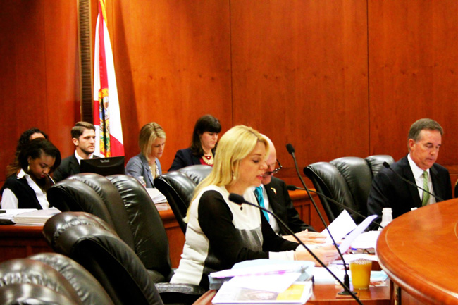 Pam Bondi at a Cabinet meeting. (Facebook)