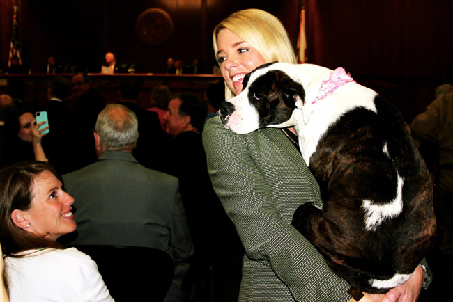 Florida Attorney General Pam Bondi's animal-rights credentials are stellar. Her gay-rights credentials, not so much. (Facebook)