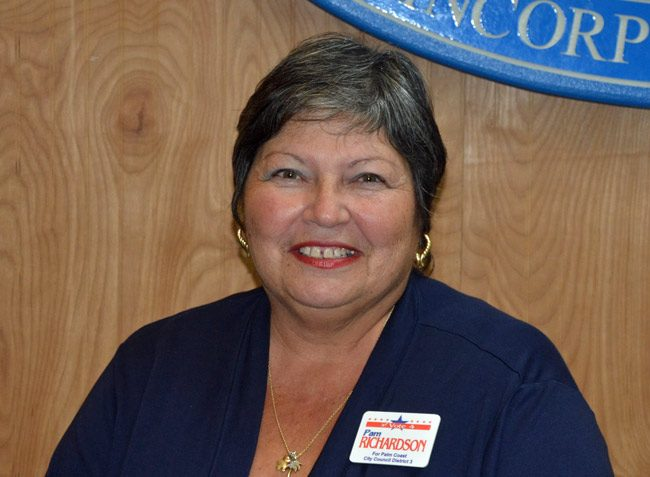 pam richardson palm coast city council candidate 2016 election