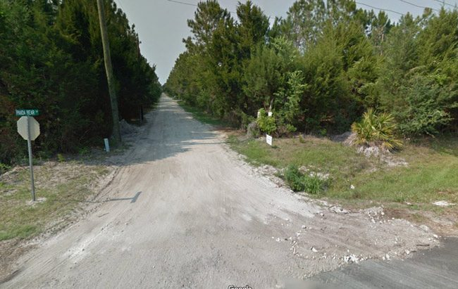 Panda Bear Lane, in western Flagler off of County Road 305, is lined with a few scattered, isolated properties.