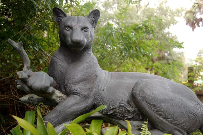 Paul Baliker's 'Panther,' its eyes on Palm Coast's public art ventures. (© FlaglerLive)