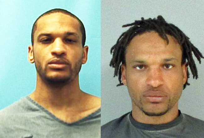 Pariate Moore when he Palm Coast's was in state prison, left, and after his arrest Wednesday in Flagler.