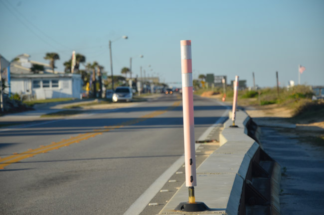 Even with diminished parking along a 1.3-mile section of A1A, Flagler Beach's parking situation has not quite been in crisis. A consultant is proposing paid parking along A1A. (© FlaglerLive)