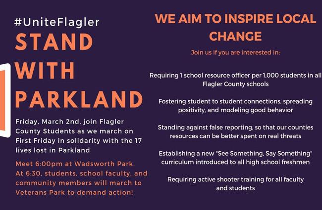 parkland march flagler county