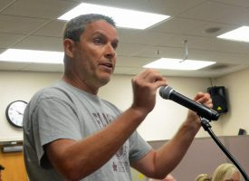 'You've kowtowed to other pressures and you're just trying to kick it somewhere else,' Church on the Rock pastor James Bellino told Bunnell commissioners. (© FlaglerLive)