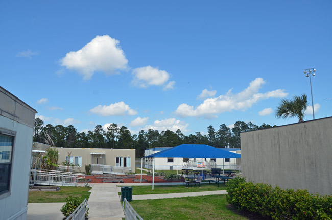 The Everest alternative school campus, adjoining Flagler Palm Coast High School, has five teachers and an average of 50 students at any given time. (© FlaglerLive)