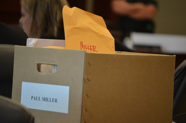 Miller's life was reduced to a case in a prosecutor's box. (© FlaglerLive)