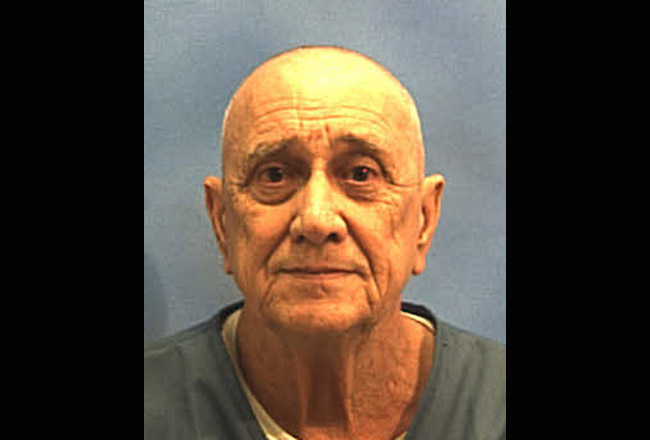 Paul Miller's mug shot by the Florida prison system as he was booked at the Central Florida Reception Center.