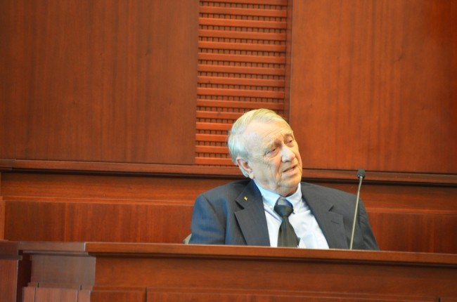 Paul Miller was in turns dismissive, truculent and disdainful but also insistently self-assured under cross-examination by the prosecution Wednesday afternoon. (c FlaglerLive)