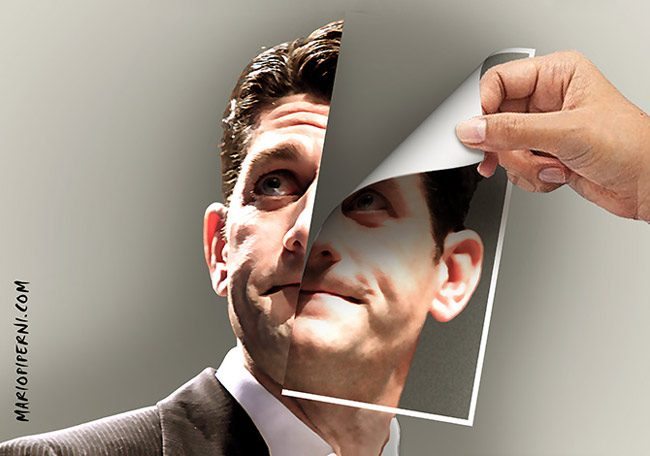 Paul Ryan's handling of the American Health Care Act has been a study in palimpsests. (Mario Piperni)