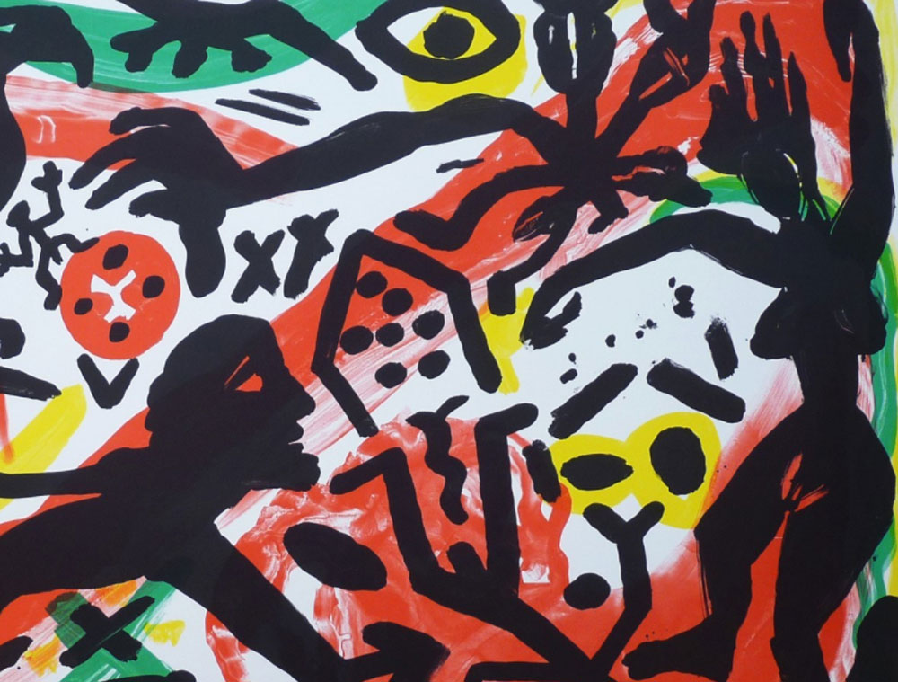 Detail from A.R. Penck's 'The Situation Now' (1992).