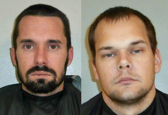 Daniel Garrett Lindsey, 29, left, and Matthew Dalton Barker, 27.