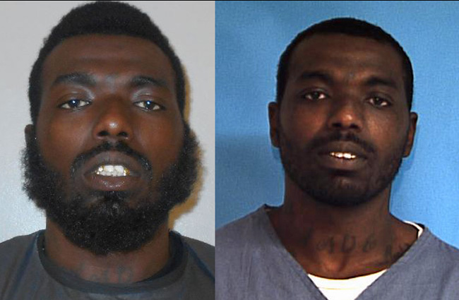 Charles Lenard Phillips in his state prison and Flagler jail booking photos.