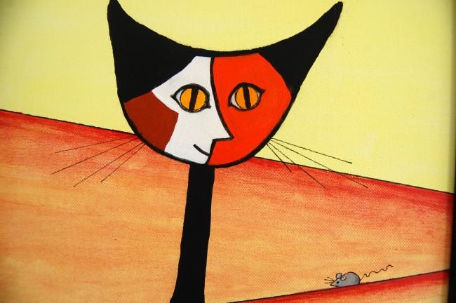 norma salt picasso's cat el gato flagler county art league show