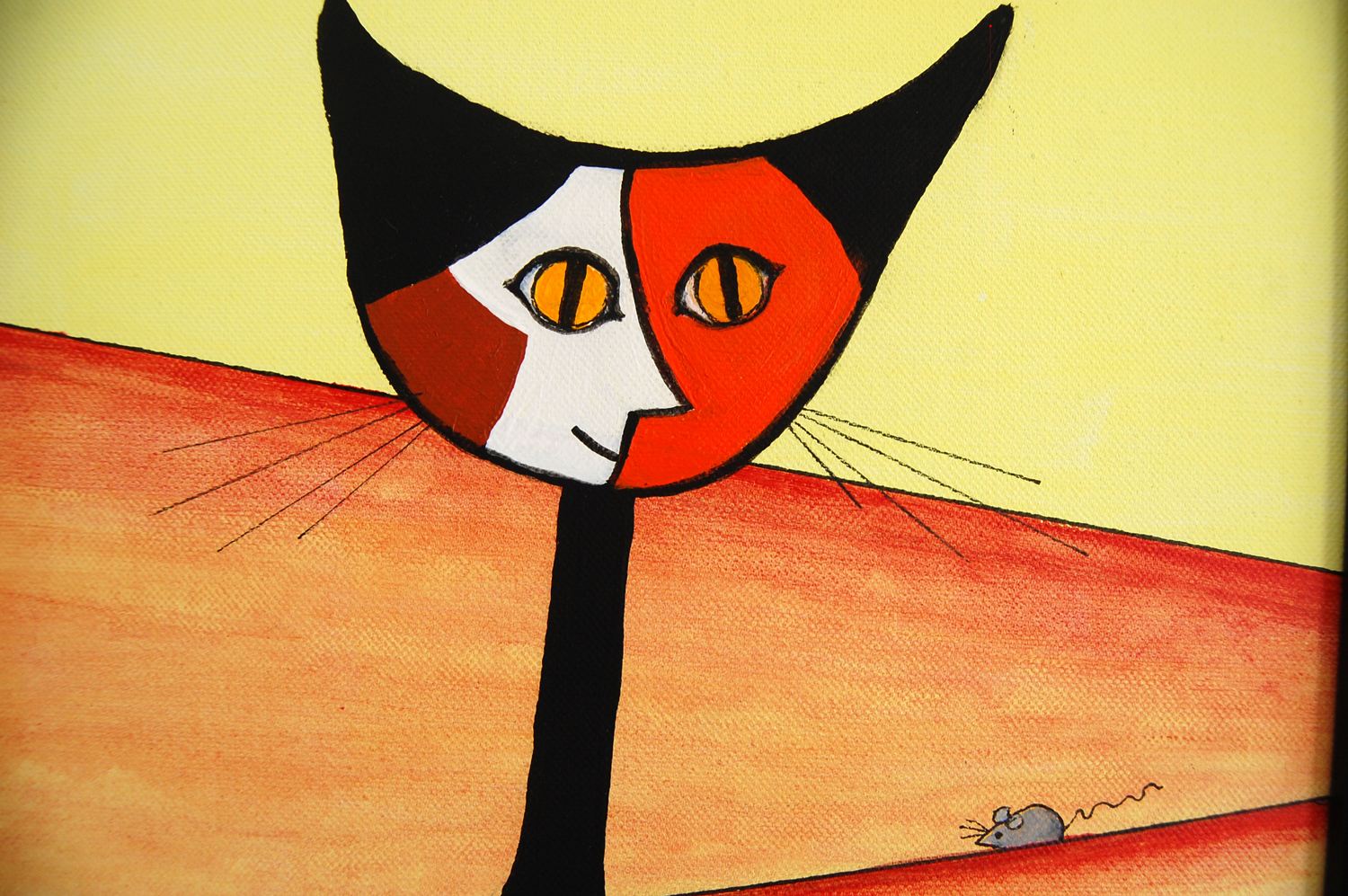 norma salt picasso's cat el gato flagler county art league show