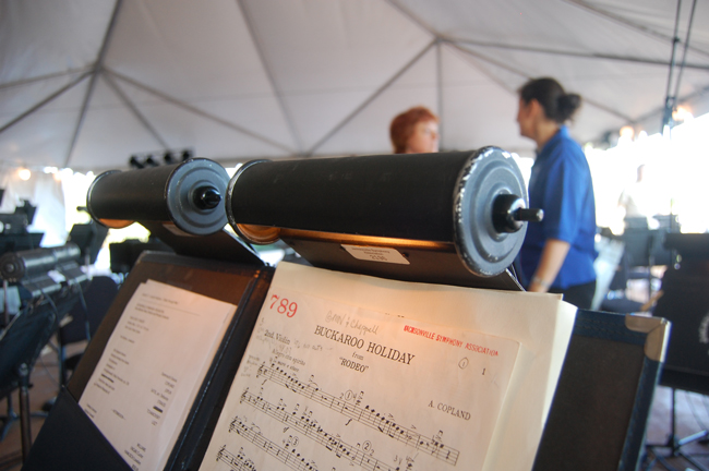 The Jacksonville Symphony Orchestra returns under the tent, this time minus the rain, we hope. (c FlaglerLive)