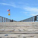 The Pier's pilgrims await progress on reopening. (© FlaglerLive)
