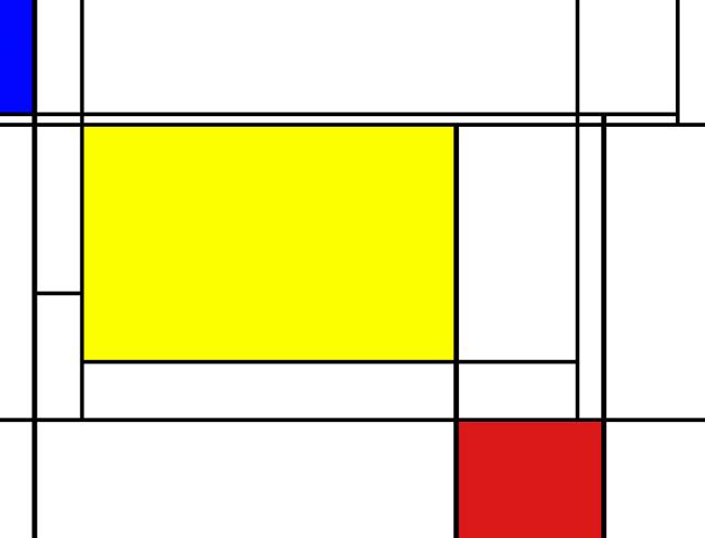 Thanks to Piet Mondrian.