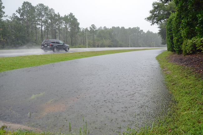 Off Pine Lakes Parkway, when it was still raining. (© FlaglerLive)