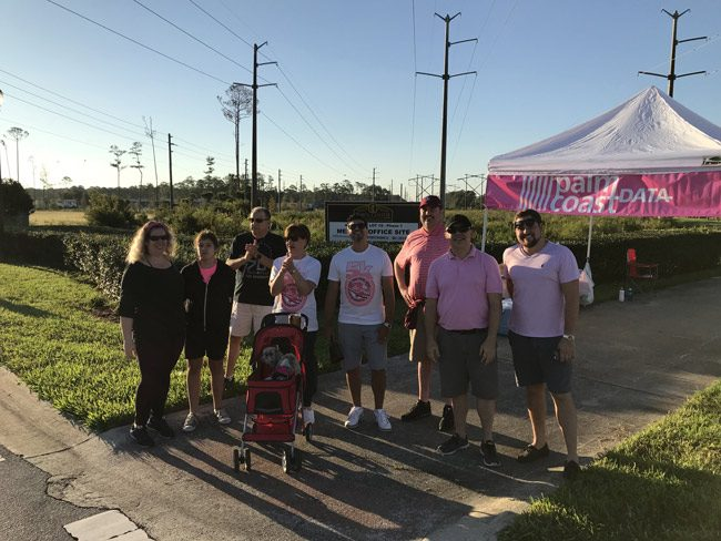 Palm Coast Data's Pink Ar,y team was among the contributors to a total haul of $16,694 raised for mammograms and diagnostic tests for local women in the annual event organized by AdventHealth Palm Coast. (Palm Coast)
