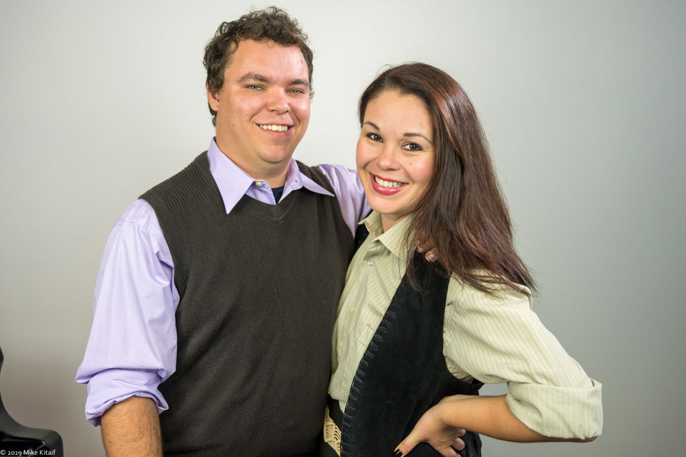 """Beau Wade is Vernon and Angela Young is Sonia in the City Repertory Theatre production of the musical comedy """"They're Playing Our Song."""" The play, with book by Neil Simon, all weekend. See details below. (Mike Kitaif)"""