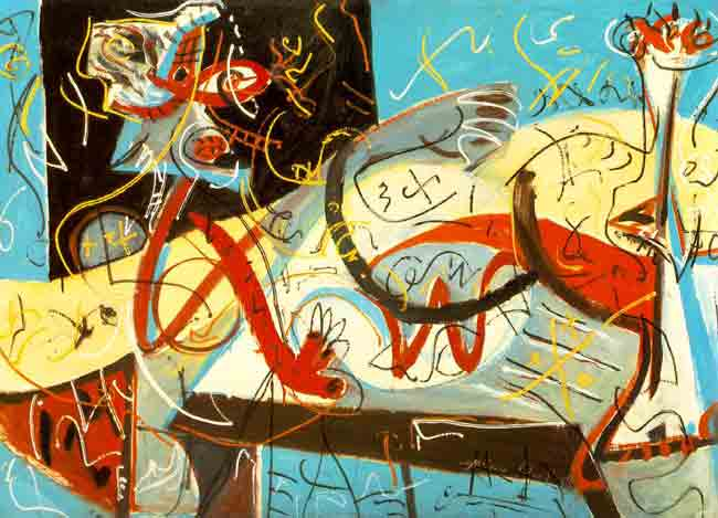 An early painting by Jackson Pollock.