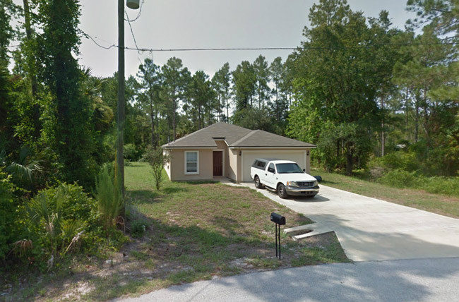 The alleged grow house on 2nd Path in Palm Coast's Seminole Woods.