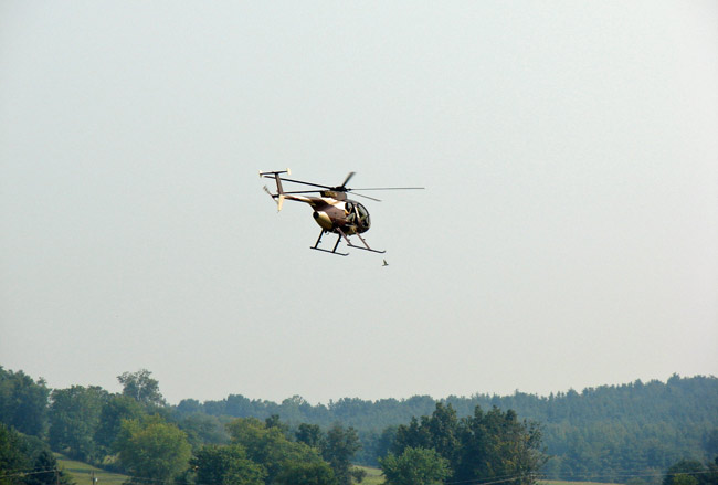 The Feds' pot copters are taking a breather.