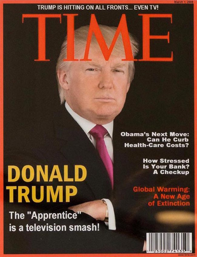 donalt trump time cover