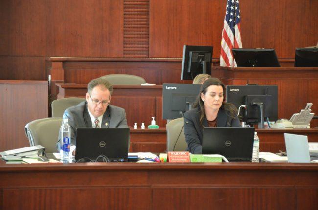 Assistant State Attorney Jennifer Dunton is prosecuting the case with Assistant State Attorney Mark Johnson. (© FlaglerLive)