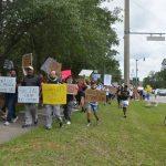 Last June's Black Lives Matter protest in Palm Coast. (© FlaglerLive)