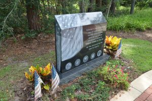 Heroes Park's newest monument, to the victims of PTSD, was proposed by a n on-resident of Palm Coast. (© FlaglerLive)