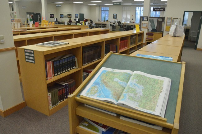 The Flagler County Public Library marks its 16th anniversary in a celebration at 2 p.m. Friday at the main branch at Palm Coast Parkway and Belle Terre Parkway. (c FlaglerLive)