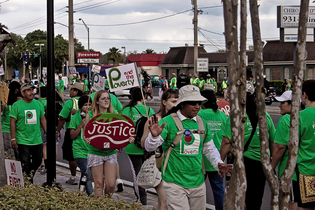 A protest of the Coalition of Immokalee Workers. (CWMc)