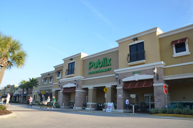 The robbery at the Town Center Publix took place shortly before closing time. (c FlaglerLive)