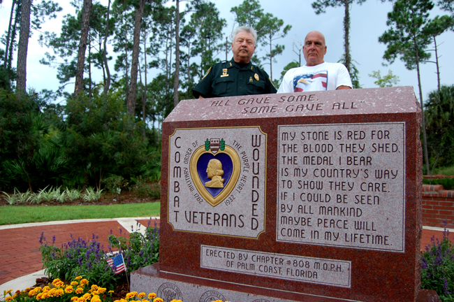 Purple Heart memorial palm coast heroes park, Rick Look and Stephen Lunsford,