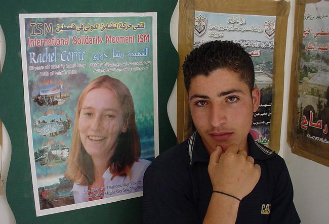 rachel corrie palestine activist west bank gaza