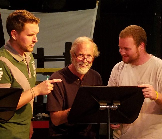 "Bruce Popielarski, Jim Fellows and Tim Lamb star in City Repertory Theatre's staged reading of ""The Rainmaker,"" N. Richard Nash's 1954 play about a con man who promises to bring rain to a drought-stricken Texas town. The production will run Friday Nov. 18 through Sunday Nov. 20 at City Rep's Palm Coast venue. Photo by City Repertory Theatre. (Tom Bird Photography)"