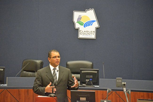Raul Zambrano, who sat on Flagler's felony court previously, is the Chief Judge of the Seventh Judicial Circuit, which includes Flagler, Volusia, St. Johns and Putnam counties, or about 1 million residents. (© FlaglerLive)