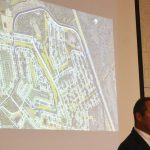 Ray Tyner, Palm Coast's Deputy Chief Development Officer, speaking to residents about the Matanzas golf course proposal at a neighborhood meeting in December. (© FlaglerLive)