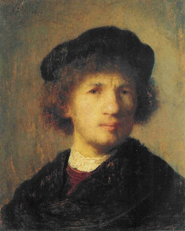 Rembrandt's self-portrait, recovered.